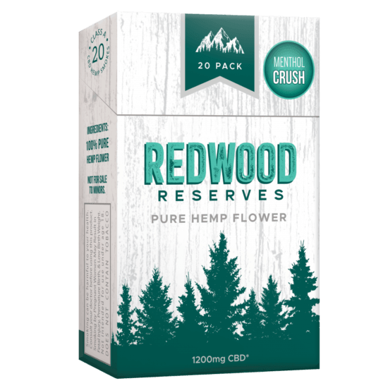 20-pack of menthol cigarette alternatives by Redwood Reserves